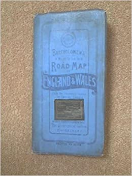 Driving Map Of England And Wales.Bartholomew S 4 Miles To The Inch Road Map Of England Wales Sheet