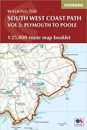 south west coast path map booklet plymouth to poole 125 000 os route mapping british long distance amazoncouk paddy dillon 9781852849627 books