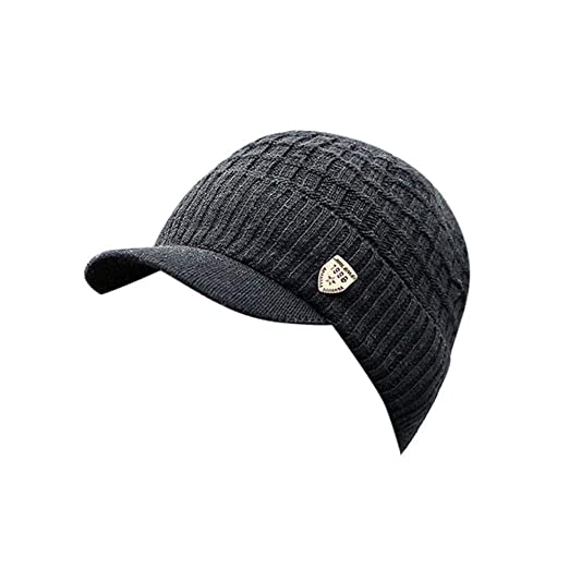 12de6afa99e HGWXX7 Men Winter Warm Baggy Weave Crochet Wool Knit Ski Hat Beanie Visors  Caps(One