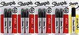 Sharpie Chisel Tip Permanent Marker, 8 Black Markers, Plus Bonus Pro King Size Marker