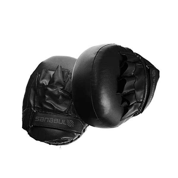 Sanabul Battle Forged Striking Air Punch Focus Mitts For Boxing Mma Kickboxing Muay Thai Pair Punch Kick Punch