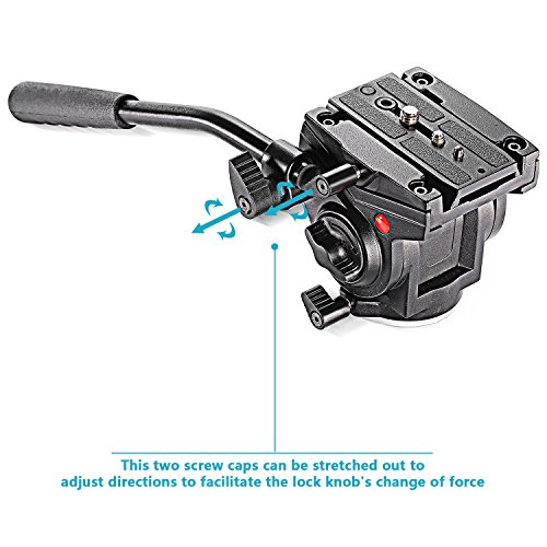 """UPC 804808456898, Neewer® Video Camera Fluid Drag Head with Sliding Plate for DSLR Cameras, Camcorder, Monopod and Tripods with 3/8"""" Screw Mount, 8.82Lbs/4kg Load Capacity"""