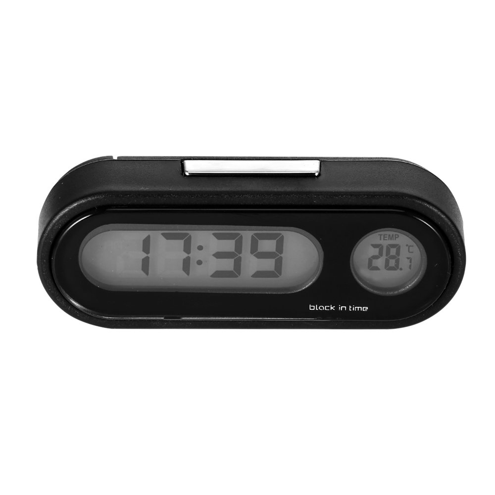 Multi-functional Car Auto Electronic Clock Thermometer LED Backlight Digital Display 2-in-1 Auto Car Electronic Clock
