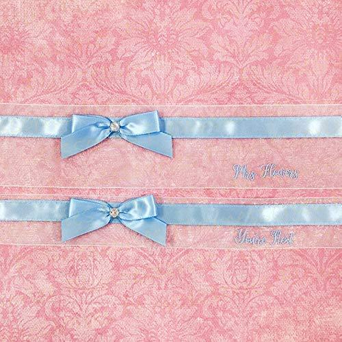 Garter Set Youre Next Toss Personalized handmade Something Blue Bridal Wedding Garters Personalize Keepsake
