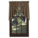 Cheap VHC Brands Rustic & Lodge Kitchen Window Curtains – Barrington Green Scalloped Prairie Swag Pair