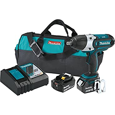 Makita XWT04TX 18V LXT Lithium-Ion Cordless 1/2 Sq. Drive Impact Wrench Kit (5.0Ah),
