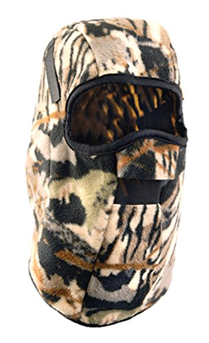 Stay Warm - CAMO PLUSH FLEECE - One Layer Mid-Length w/Face Mask Winter Liner - LF649-12-PACK by Haynesville