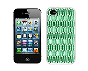 Slim Case For Sumsung Galaxy S4 I9500 Cover Durable Soft Silicone PC Green Honeycomb Diy White Phone Cover Mobile Accessories for Sumsung Galaxy S4 I9500