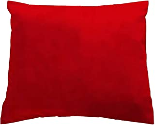 product image for SheetWorld Crib Toddler Pillow Case, 100% Cotton Woven, Red, 13 x 17, Made in USA