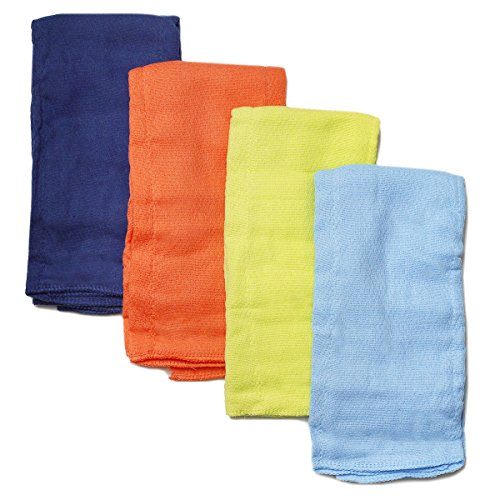 Gerber Boy Solid Prefold Diaper Burp Cloths, 4 count