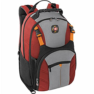 "Swiss Gear Sherpa 16"" Laptop Backpack Travel School Bag - Red by N/A"