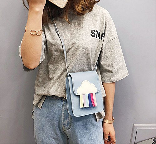 Blue Tassel Tide Woman Bag Diagonal Wild Rrock Bag Phone Rainbow Bag Mobile wAfnPq