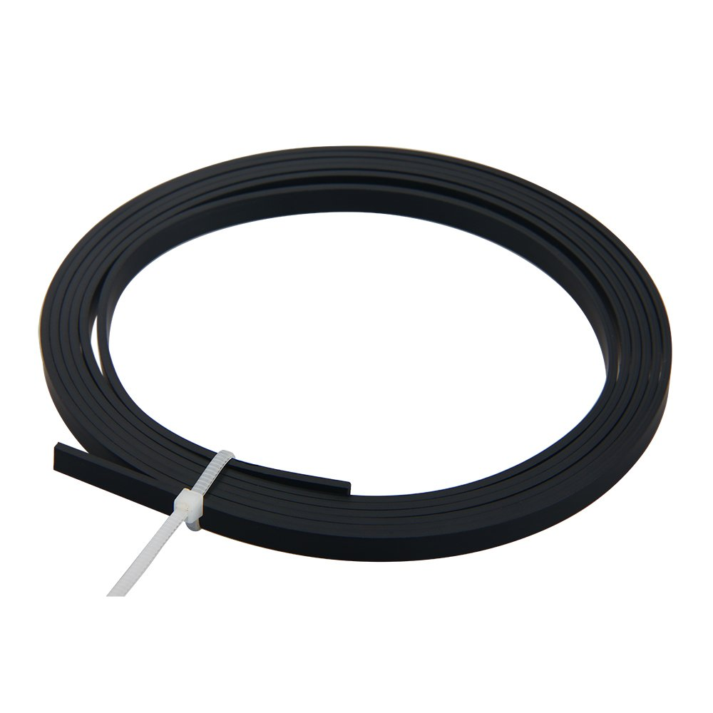 Kmise Z4861 5' ABS Acoustic Guitar Binding Purfling Strip 5 x 1.5mm Body Project, Black