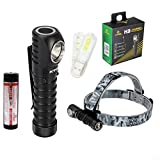 XTAR H3 Cree XM-L2 U3 1000 Lumens LED Headlamp Waterproof Flashlight With Xtar 18650 Battery and Skyben 18650 Battery Case