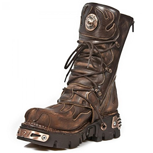 New Rock Boots M.591-s8 Gotico Hardrock Punk Unisex Stiefel Braun