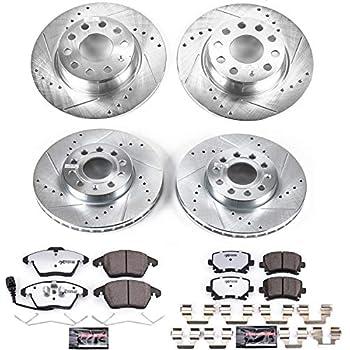Power Stop K5768 Front /& Rear Brake Kit with Drilled//Slotted Brake Rotors and Z23 Evolution Ceramic Brake Pads