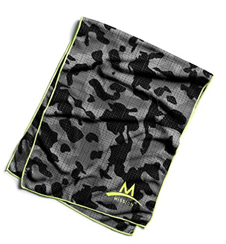 Mission Enduracool Techknit Cooling Towel, Black Camouflage, Large by Mission