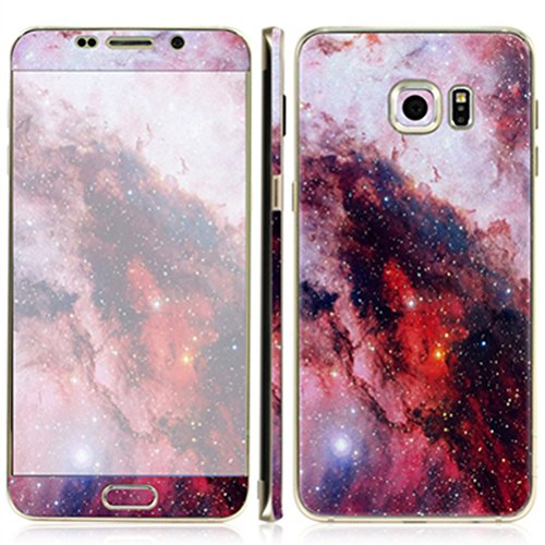 Just Mode(TM)Colorful Style Full Body Film Sticker Case Cover Protector for Samsung Galaxy S6 Edge Plus-Grey Starry