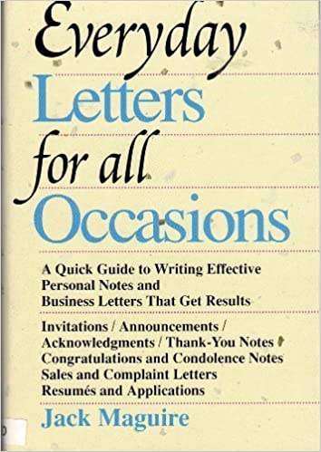 Everyday Letters for All Occasions: Jack Maguire
