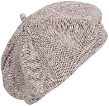 8afceddfee6b8 WITHMOONS Beret Hat Breathable Mesh Summer Straw French Berets KRF1165