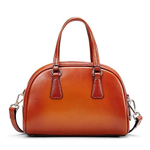 Rossie Viren Deerskin Leather Dome Bowler Vintage Brown Tote Bag