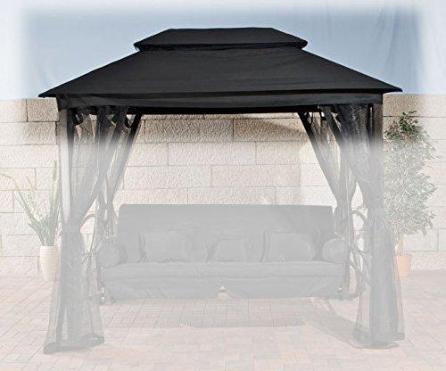 CLP Ersatz-Dach Hollywoodschaukel KENIA (Breite: 258 cm, Tiefe: 172 cm, Höhe: 237 cm) schwarz