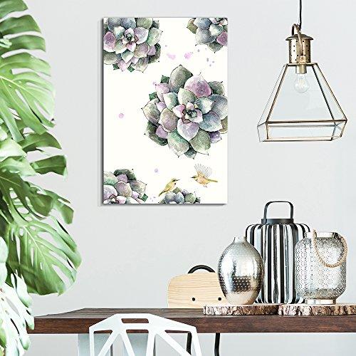 Succulent Plants Series Watercolor Succulents on White Background