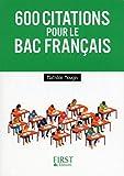 Les 600 citations à connaître pour le Bac Français