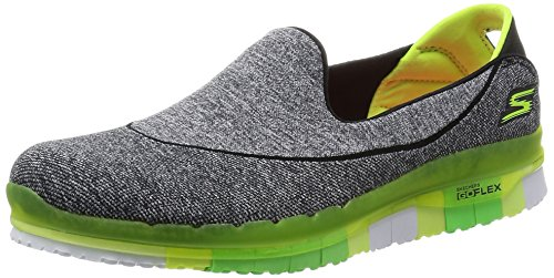Skechers Performance Damen Go Flex Slip-On Wanderschuh Schwarz / Lime
