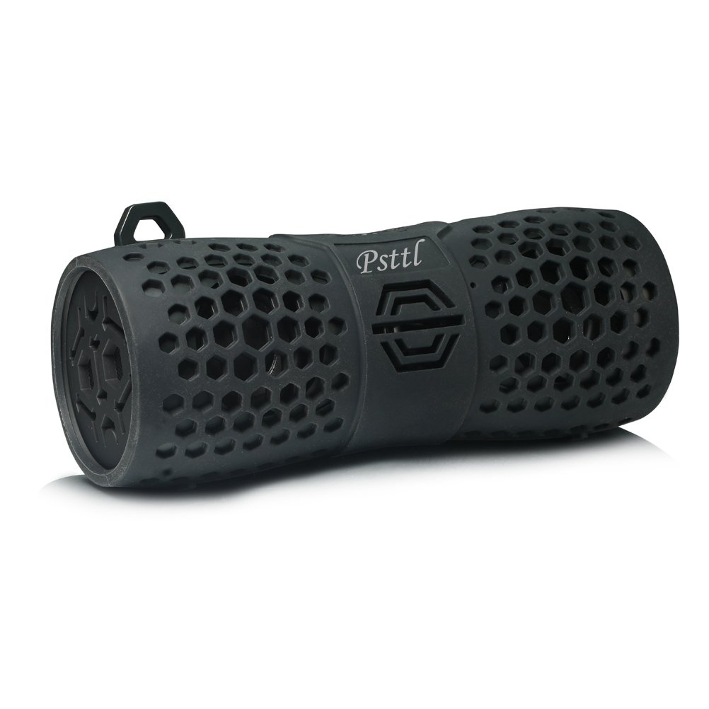 Psttl 213 IPX6 Waterproof Bluetooth Outdoor Wireless Portable Shower Speaker up to 6 Hours Playtime Superior Sound for Camping Beach Sports Kayaking Pool Party by Psttl