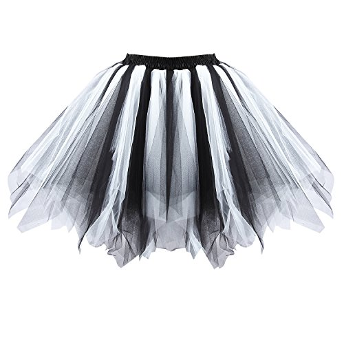 [Acecharming Womens Mini Ballet Multi-layer Ruffle Frilly Petticoat Bubble Tutu Costume Skirt] (Tutu Costume Ideas For Toddlers)