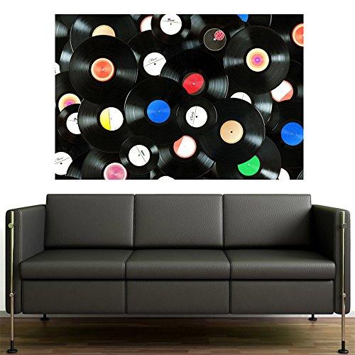 Painel Adesivo de Parede - Discos - 169pnp
