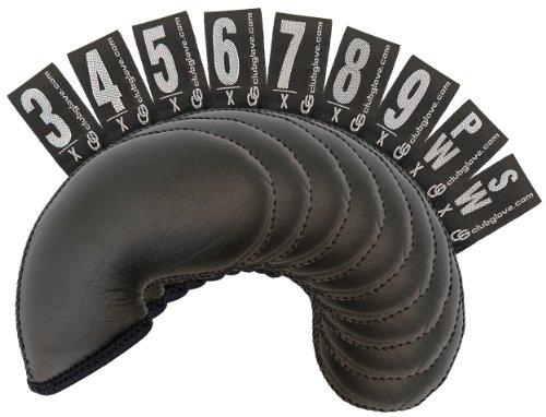 Club Glove Iron Headcovers (Club Glove 9-Piece Set XL Gloveskin Iron Cover (Black))