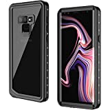 Samsung Galaxy Note 9 Waterproof Case, GOCOOL Galaxy Note 9 Protective Case, Clear Sound, Built-in Protector, Full Protective Case for Galaxy Note 9, Waterproof, Dirtproof, Snowproof, Black