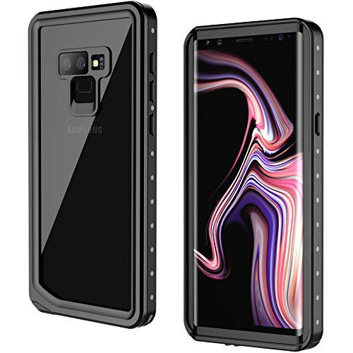 Samsung Galaxy Note 9 Waterproof Case, GOCOOL Galaxy Note 9 Protective Case, Clear Sound, Built-in Protector, Full Protective Case for Galaxy Note 9, Waterproof, Dirtproof, Snowproof, Black by GOCOOL