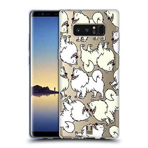 Samoyed Note (Head Case Designs Samoyed Dog Breed Patterns 5 Soft Gel Case for Samsung Galaxy Note8 / Note 8)