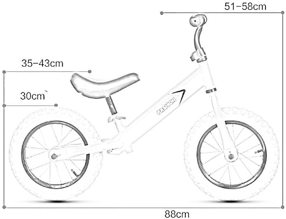 SXWBL Chicas Chicos Bicicleta de Equilibrio de Peso Ligero sin ...