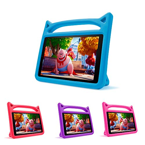 Case for All-New Fire HD 10 Kids Tablet (2015/2017 Release) - Mr. Spades [Multi-Angle Viewing] Shock Proof Light Weight Convertible Handle Stand Kids Friendly Cover for Amazon HD 10.1