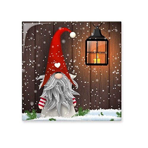 Christmas Santa Claus Snowflake Moustache Festival Illustration Pattern Ceramic Bisque Tiles for Decorating Bathroom Decor Kitchen Ceramic Tiles Wall Tiles durable modeling