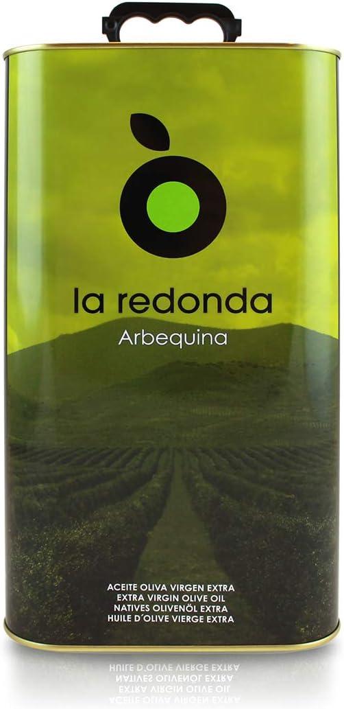 La Redonda - Aceite de Oliva Virgen Extra 100% Arbequina - 4l - Lata Hojalata Electrolítica - Cosecha Temprana de nuestra Finca en Aragón - Extracción en Frío - Única Prensada – Almazara Propia