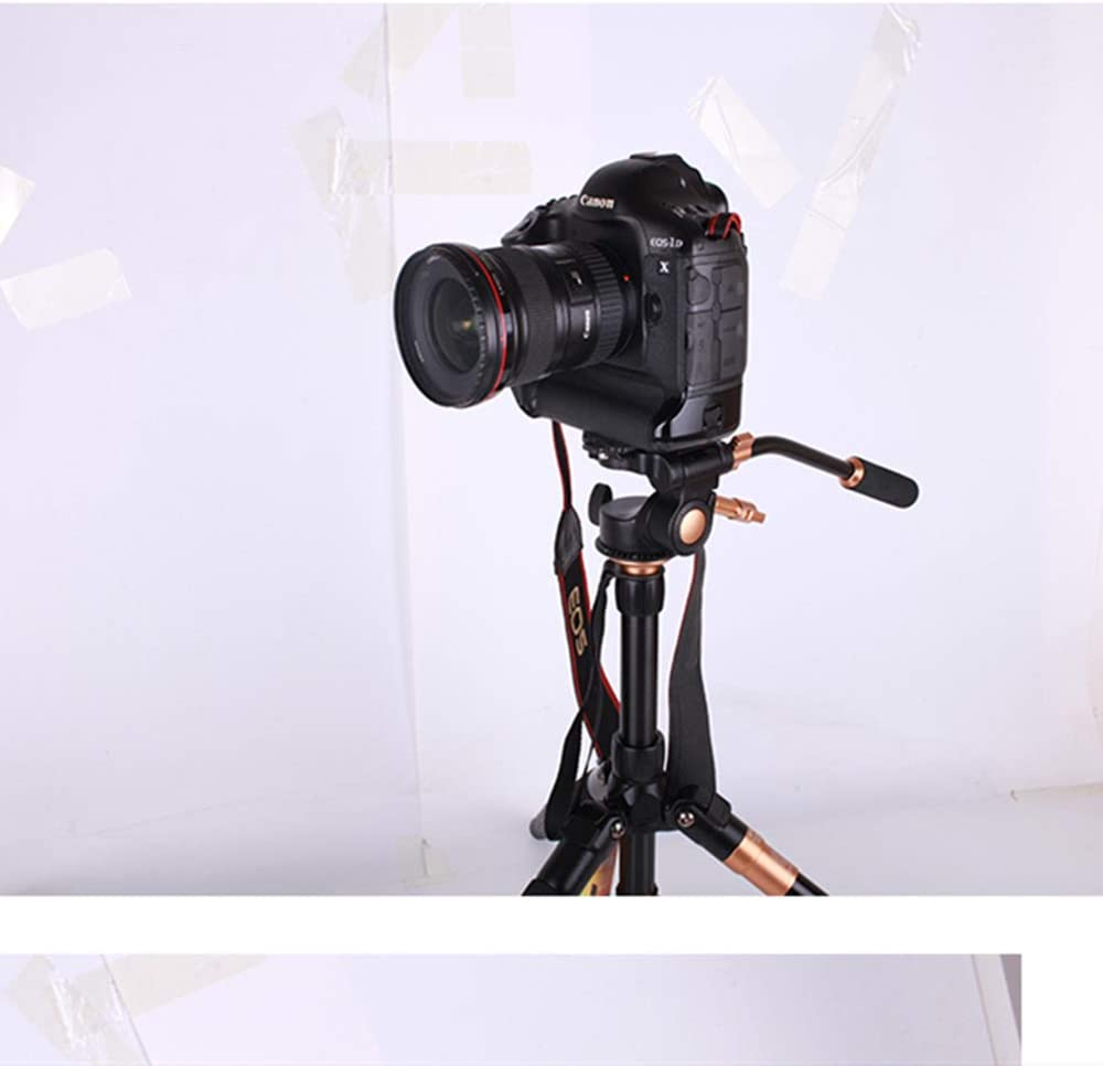 QZSD Q08S Pro 3 Way 1//4screw Tripod pan Head with Quick Release Plate for Camera