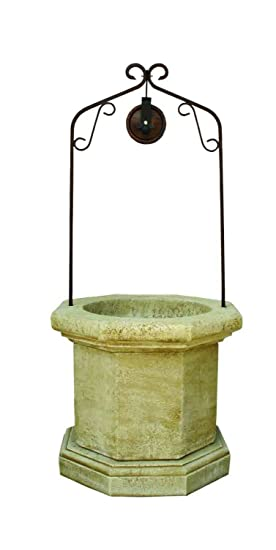 Catart Pozo Brocal Decorativo Para Jardin En Piedra 90x90x202cm