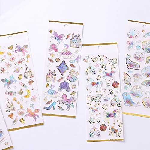 Hosaire 1 Fiches Autocollant Stickers 3D Adh/ésif Mignon Baleine Kawaii Cartoon Stickers Adh/ésif D/écoration de DIY Calendrier Album Scrapbooking