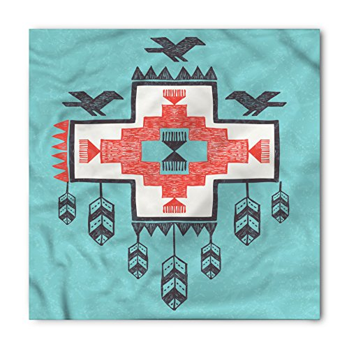 Ambesonne Native American Bandana, Vintage Native, Unisex Head and Neck Tie