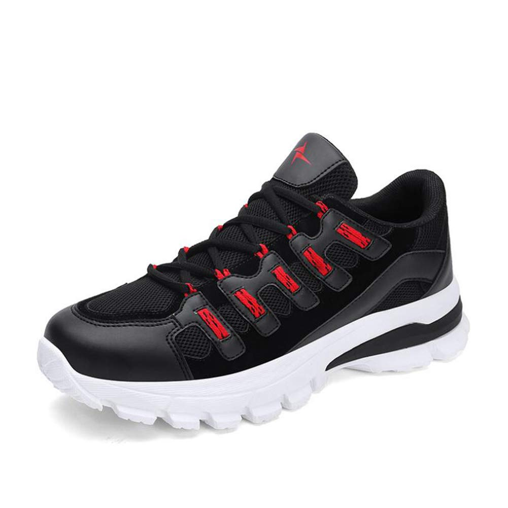 Hy Herren Casual schuhe, Laufschuhe, Herren-Trainer Leichtgewicht Lace Up Breathable Casual Sports Athletic Tennis Walking schuhe Für Männer Turnschuhe,schwarz,43