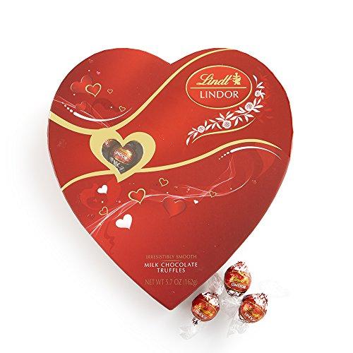 Lindt Lindor Valentine Truffles Box, Milk Heart, 5.7oz
