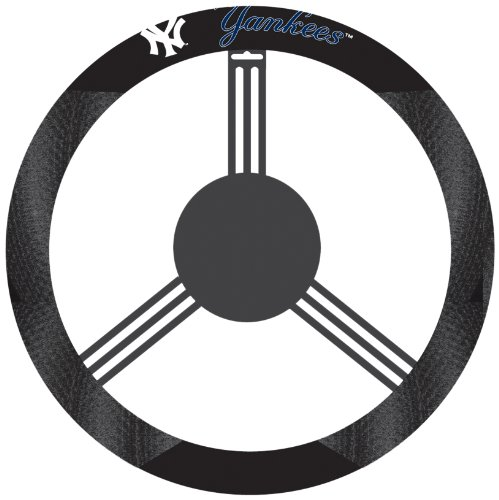 Poly Wheel Steering Suede Cover - MLB Poly-Suede Steering Wheel Cover