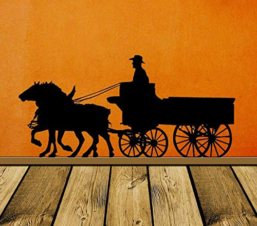 - Pioneer Horse Decor Wagon Old West Western Wall Decal Stage Coach Cowboy Wall Art 1800s Wall Sticker Vinyl Home Office Decor and Stick Made in USA