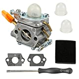 Butom 308054003 Carburetor with Air Filter Adjustment Tool for Homelite UT20002 UT20003A UT20004 UT20006 UT20022 UT20023A UT20024 UT20026 UT20042 UT20043A UT20044A UT20044B UT20046 25cc String Trimmer