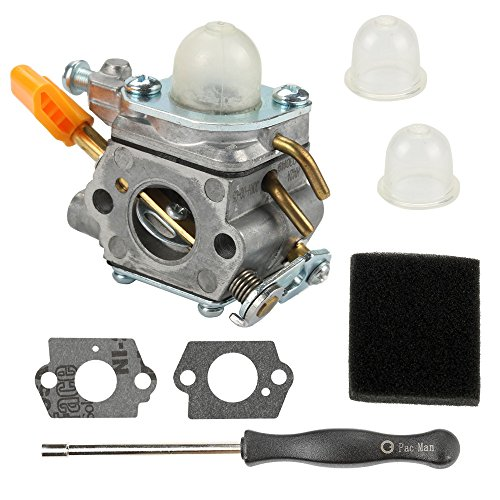 Butom 308054003 Carburetor with Air Filter Adjustment Tool for Homelite UT20002 UT20003A UT20004 UT20006 UT20022 UT20023A UT20024 UT20026 UT20042 UT20043A UT20044A UT20044B UT20046 25cc String Trimmer by Butom